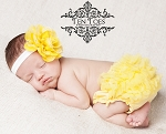 Yellow Chiffon Ruffle Diaper Cover